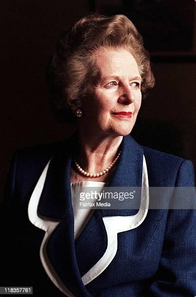 Former British Prime Minister Margaret Thatcher on 17 November 1995