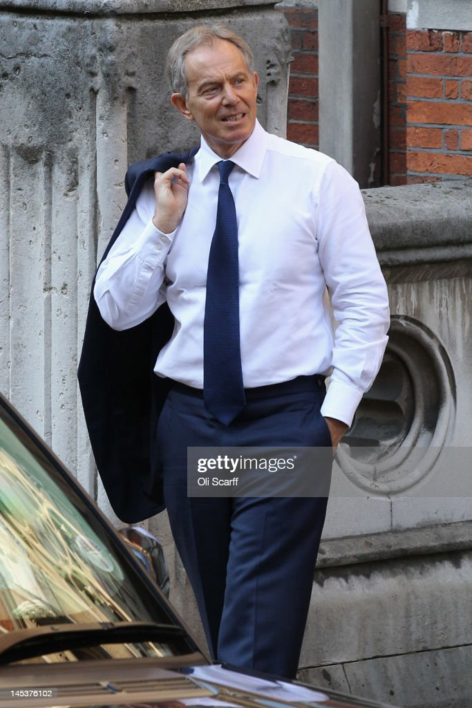 Former British Prime Minister Tony Blair arrives at the Royal Courts of Justice to give evidence to the Leveson Inquiry into media ethics on May 28...