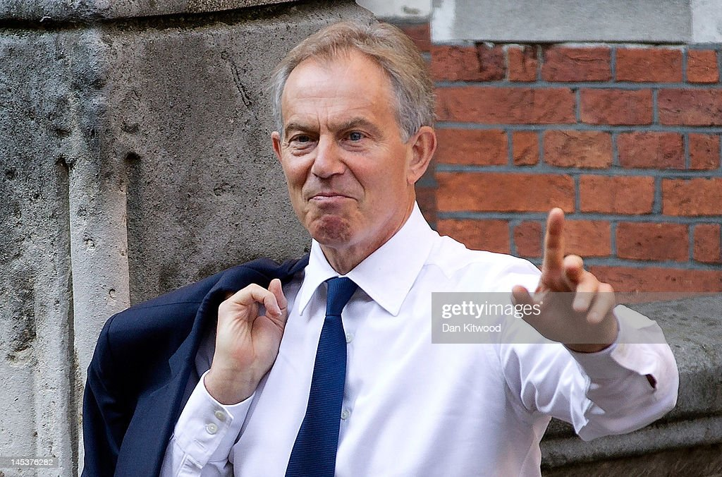 Former British Prime Minister Tony Blair arrives at the Royal Courts of Justice to give evidence to the Leveson Inquiry into media ethics on May 28, 2012 in London, England. Mr Blair is expected to answer question on his links with Rupert Murdoch, the Chief Executive Officer of News Corporation, whom it is alleged he was close to during his time in office. The inquiry, which may take a year or more to complete, comes in the wake of the phone hacking scandal that saw the closure of The News of The World newspaper in 2011.