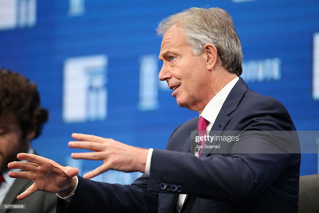 Former British Prime Minister Tony Blair speaks onstage at the 2016 Milken Institute Global Conference on May 03, 2016 in Beverly Hills, California.