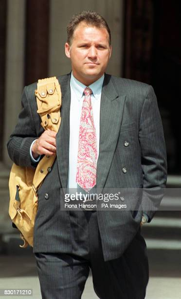Former British soldier Barry Miller leaves the High Court in London where he lost his battle to avoid extradition to Hong Kong to stand trial over...
