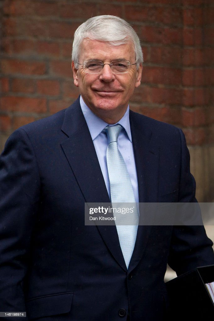 Former Britrish Prime Minister Sir John Major arrives to give evidence at the Leveson Inquiry on June 12 2012 in London England This phase of the...