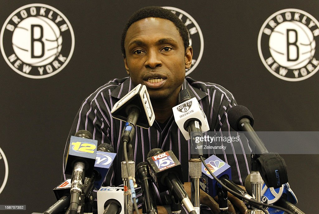 Former Brooklyn Nets head coach <a gi-track='captionPersonalityLinkClicked' href=/galleries/search?phrase=Avery+Johnson&family=editorial&specificpeople=201655 ng-click='$event.stopPropagation()'>Avery Johnson</a> speaks after his firing during a news conference at the PNY Center on December 27, 2012 in East Rutherford, New Jersey.
