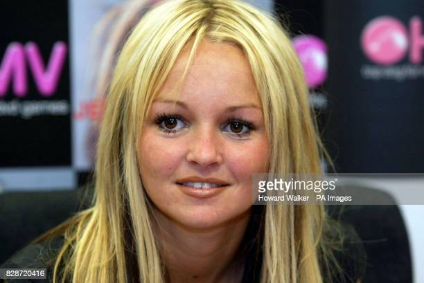 Former Brookside actress Jennifer Ellison at the HMV Store in Church Street Liverpool to promote her new single 'Baby I Don't Care' * 22/06/03...