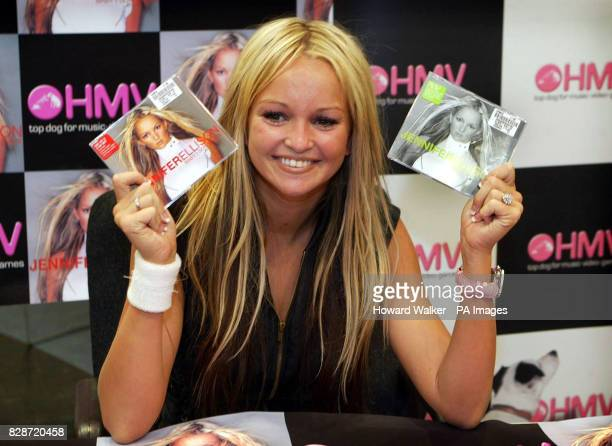 Former Brookside actress Jennifer Ellison at the HMV Store in Church Street Liverpool to promote her new single 'Baby I Don't Care'