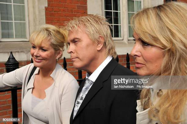 Former Bucks Fizz members Cheryl Baker Mike Nolan and Jay Aston arrive at the Trade Mark Registry in London to hear judgement on a longrunning...