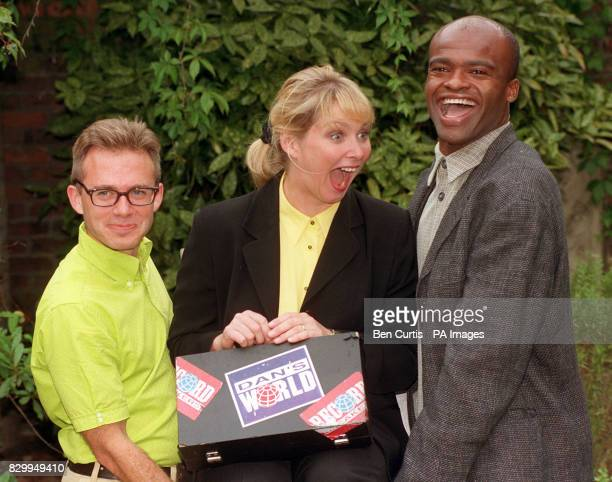 Former Bucks Fizz singer Cheryl Baker and Olympic Gold medallist Kriss Akabusi are joined by presenter Dan Roland at the launch of a new series of...