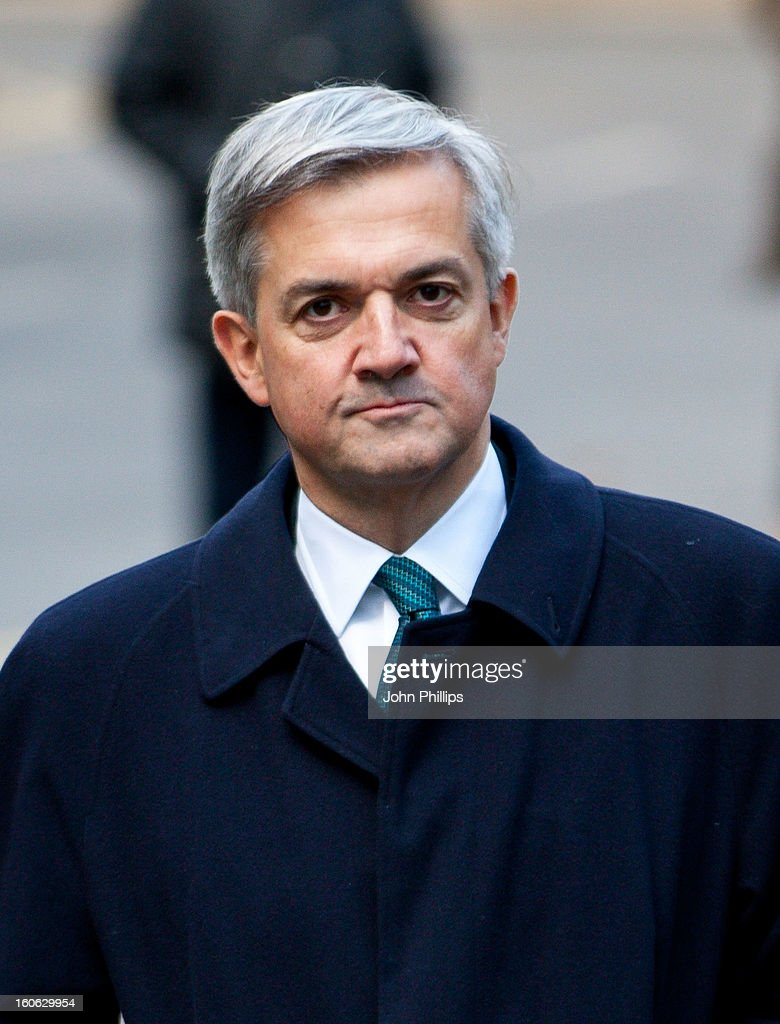 Former Cabinet Minister <a gi-track='captionPersonalityLinkClicked' href=/galleries/search?phrase=Chris+Huhne&family=editorial&specificpeople=555564 ng-click='$event.stopPropagation()'>Chris Huhne</a> arrives at Southwark Crown Court on February 4, 2013 in London, England. Former Cabinet member <a gi-track='captionPersonalityLinkClicked' href=/galleries/search?phrase=Chris+Huhne&family=editorial&specificpeople=555564 ng-click='$event.stopPropagation()'>Chris Huhne</a>, 58, and his ex-wife Vicky Pryce are on trial over allegations that Pryce, 60, took penalty points on her driving licence in 2003 so that he could avoid prosecution.