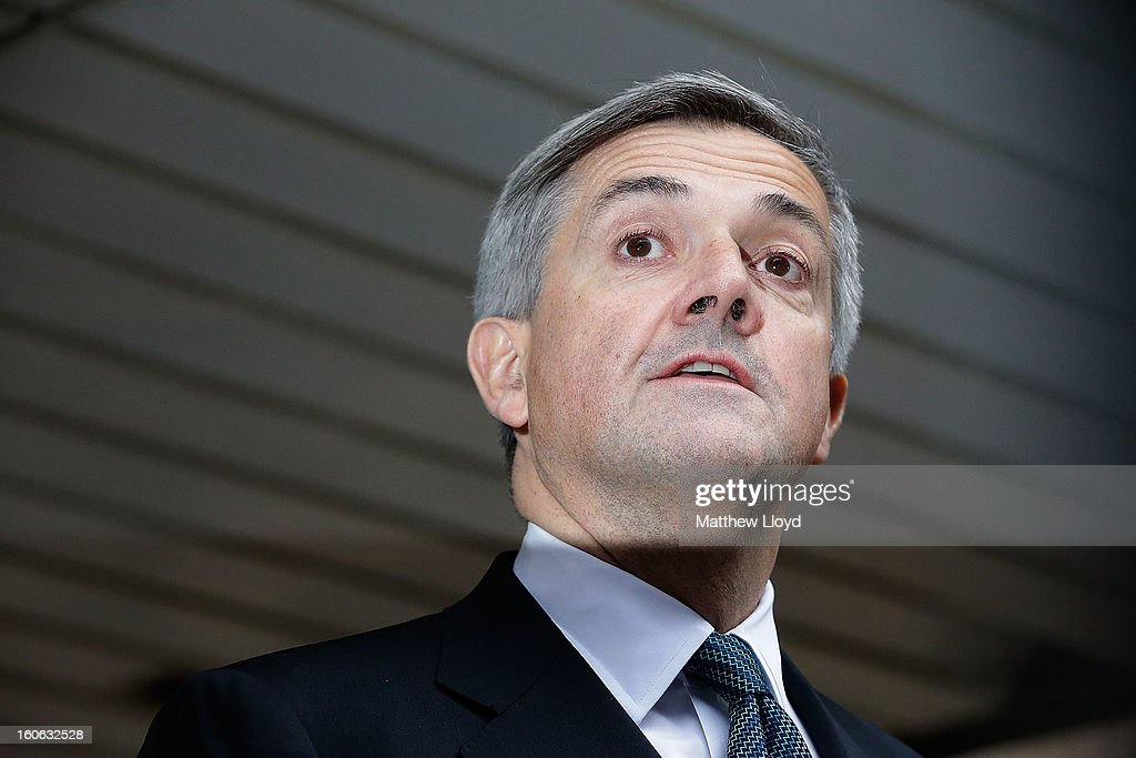 Former Cabinet Minister <a gi-track='captionPersonalityLinkClicked' href=/galleries/search?phrase=Chris+Huhne&family=editorial&specificpeople=555564 ng-click='$event.stopPropagation()'>Chris Huhne</a> makes a statement to the press outside Southwark Crown Court on February 4, 2013 in London, England. Huhne, 58, and his ex-wife Vicky Pryce are on trial over allegations that Pryce, 60, took penalty points on her driving licence in 2003 so that he could avoid prosecution. <a gi-track='captionPersonalityLinkClicked' href=/galleries/search?phrase=Chris+Huhne&family=editorial&specificpeople=555564 ng-click='$event.stopPropagation()'>Chris Huhne</a> pleaded guilty to perverting the course of justice.