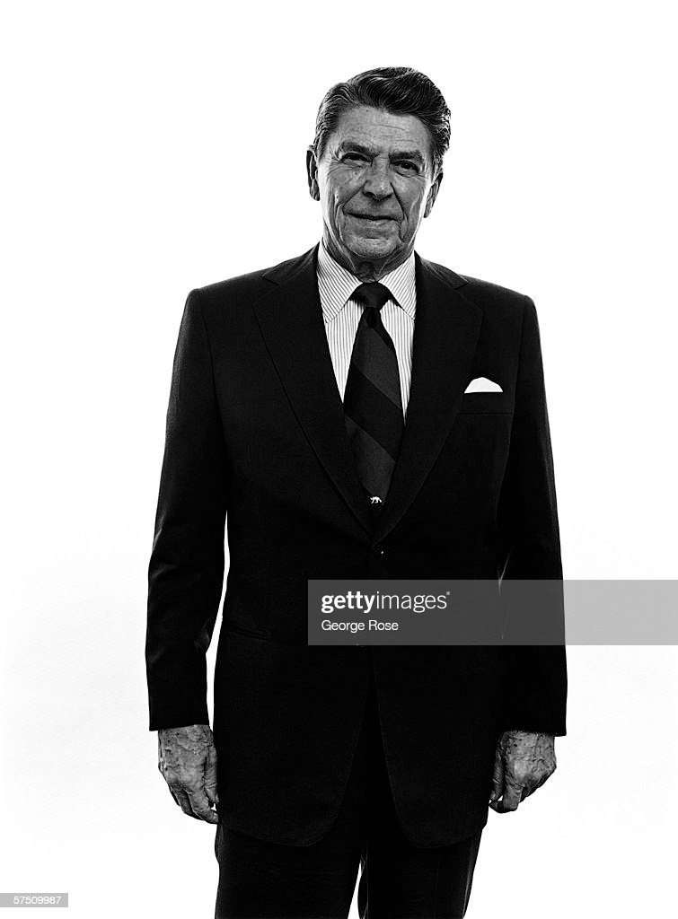 Former California Governor Ronald Wilson Reagan poses for a portrait in his Los Angeles California offices during the 1980 presidental campaign...