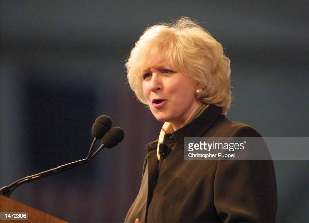 Former Canadian Prime Minister Kim Campbell speaks during the 18th Annual Borton Petrini Conron LLP's Bakersfield Business Conference on October 12...