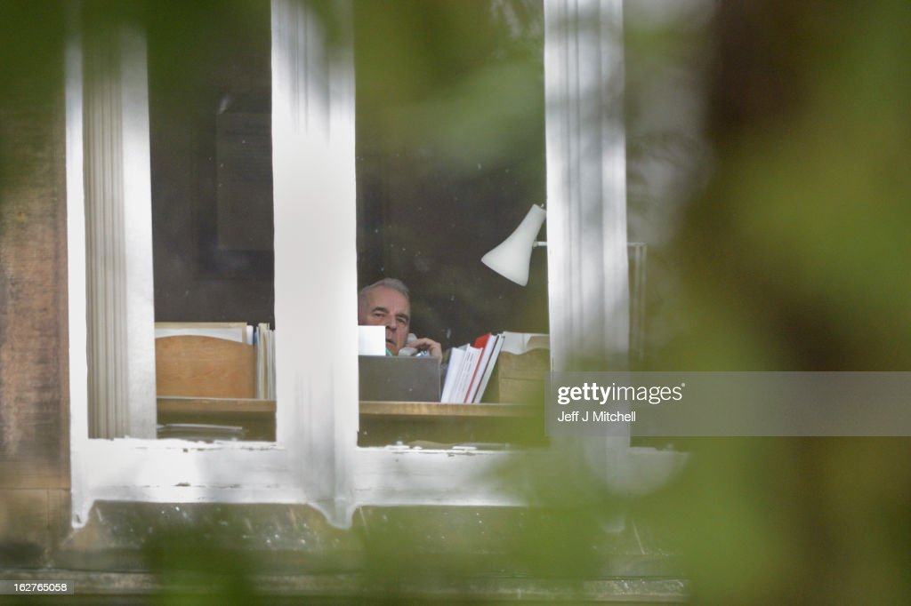 Former Cardinal Keith O'Brien sits inside his office inside his official residence on February 26, 2013 in Edinburgh, Scotland. The former Cardinal who was Britain's most senior Roman Catholic and head of the Scottish Catholic Church, has resigned following allegations from three priests and one former priest of inappropriate behavior.