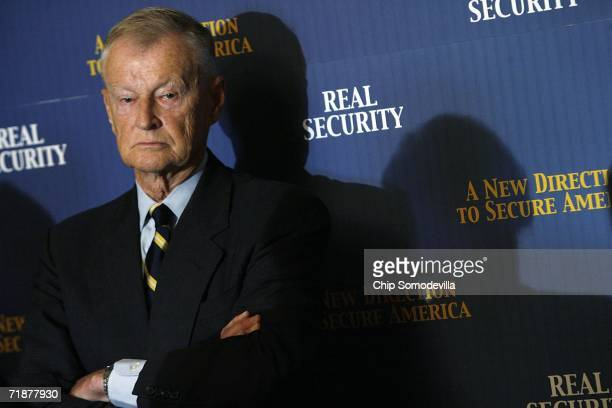 Former Carter National Security Advisor Zbigniew Brzezinski attends news conference at the US Capitol September 13 2006 in Washington DC...