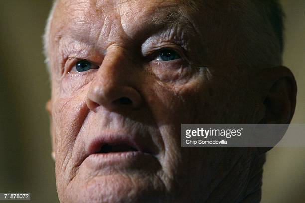 Former Carter National Security Advisor Zbigniew Brzezinski speaks during a news conference at the US Capitol September 13 2006 in Washington DC...