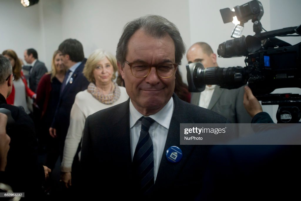 Former catalan President ARTUR MAS after holding a press conference in Barcelona, Spain on 13 March, 2017, after Spanish constitutional court announced barred him from holding public office. Artur Mas has been banned from holding public office for two years after being found guilty of disobeying the Spanish constitutional court by holding a symbolic independence referendum three years ago.