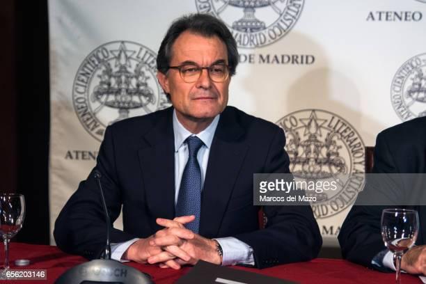 Former Catalan president Artur Mas during a debate in Ateneo