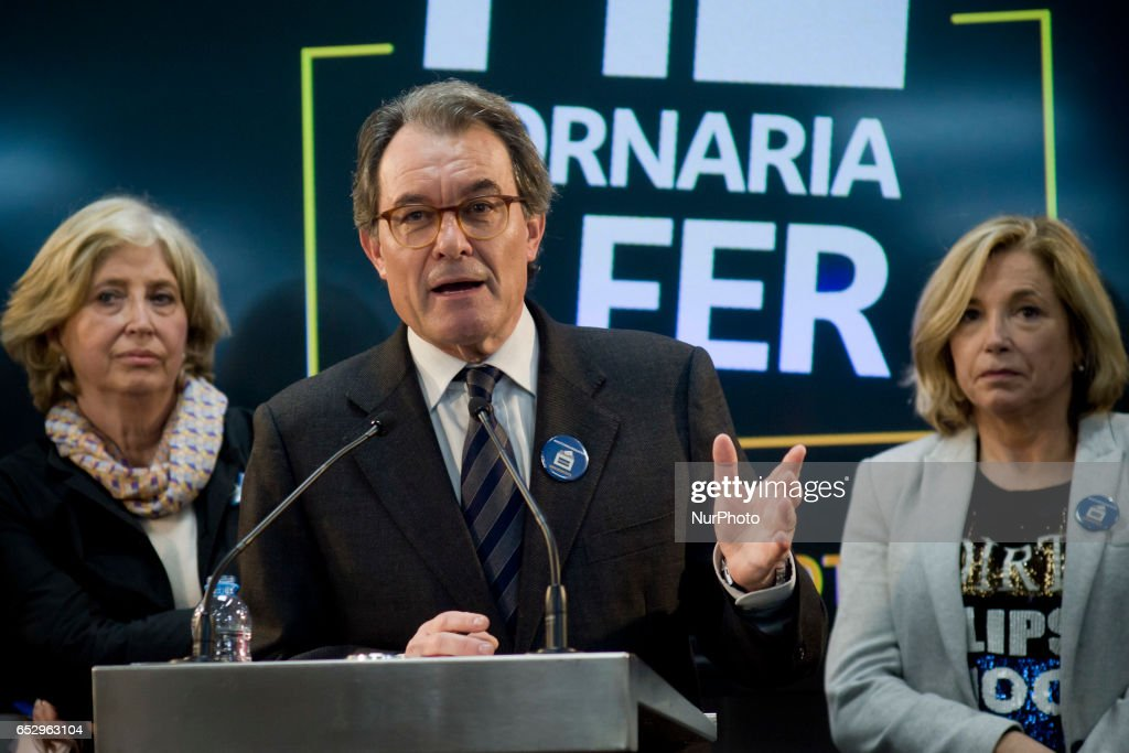 Former catalan President ARTUR MAS holds a press conference in Barcelona, Spain on 13 March, 2017, after Spanish constitutional court announced barred him from holding public office. Artur Mas has been banned from holding public office for two years after being found guilty of disobeying the Spanish constitutional court by holding a symbolic independence referendum three years ago.