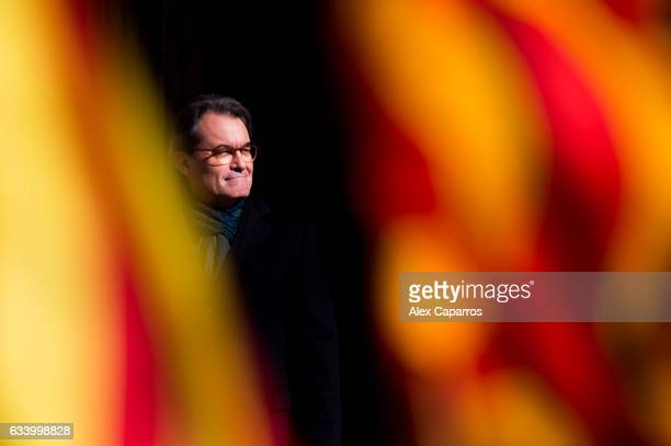 Former Catalan President Artur Mas leaves the Catalonia's Superior Court of Justice after a hearing about the independence of Catalonia referendum...