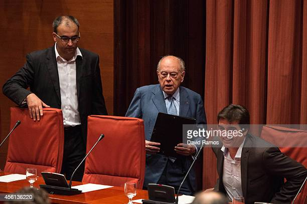Former Catalan President Jordi Pujol arrives to the Catalonia's Parliament on September 26 2014 in Barcelona Spain Jori Pujol run the Government of...