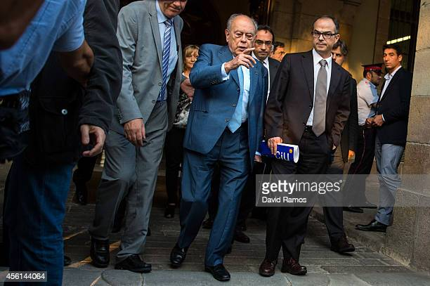 Former Catalan President Jordi Pujol leaves the Catalonia's Parliament on September 26 2014 in Barcelona Spain Jori Pujol run the Government of...