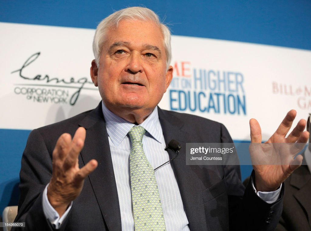 Former CEO and Chairman of the Board at IBM Louis V. Gerstner Jr. speaks during the 'All Hands on Deck: Perspectives from Higher Education, Government, Philanthropy and Business' panal during the TIME Summit On Higher Education on October 18, 2012 in New York City.