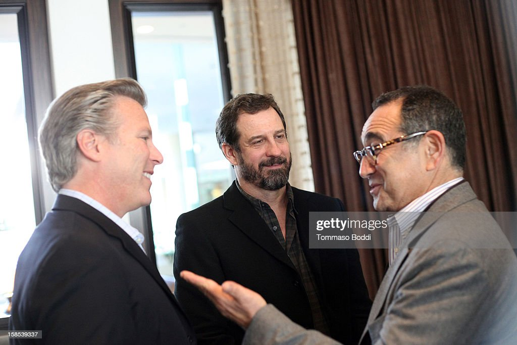 Former CEO, Yahoo! Ross Levinsohn, Chairman, CEO and Co-Founder of Machinima, Inc. Allen DeBevoise and Chairman and CEO of MediaLink Michael Kassan attends the HRTS Digital/New Media Luncheon held at The Beverly Hilton Hotel on December 18, 2012 in Beverly Hills, California.