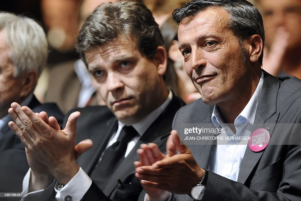 Former CFDT unionist of ArcelorMittal Florange and PS candidate for the upcoming European elections Edouard Martin and French Economy and Industry...