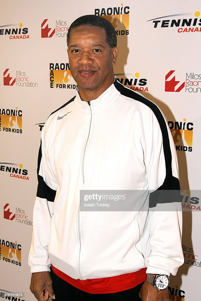 Former CFL Quarterback <a gi-track='captionPersonalityLinkClicked' href=/galleries/search?phrase=Damon+Allen&family=editorial&specificpeople=3816535 ng-click='$event.stopPropagation()'>Damon Allen</a> attends The 2nd Annual Raonic Race For Kids Fundraiser Benefitting The Milos Raonic Foundation on November 19, 2013 in Toronto, Canada.