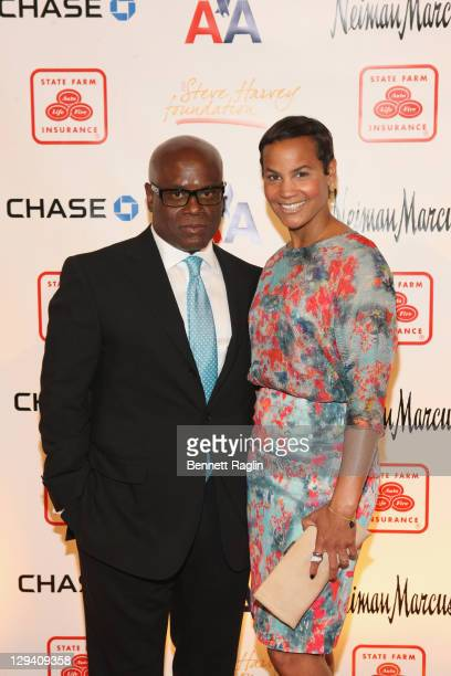 Former Chairman and CEO of Island Def Jam Music Group Antonio 'LA' Reid and wife Erica Reid attend the 2nd annual Steve Harvey Foundation gala at...
