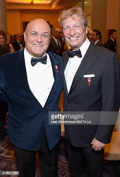 Former Chairman BAFTA LA Nigel Daly and producer Nigel Lythgoe attend the 2016 AMD British Academy Britannia Awards presented by Jaguar Land Rover...