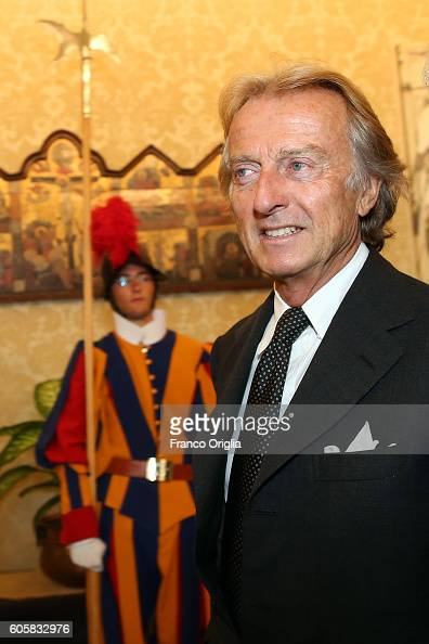 Former Chairman of Ferrari and President of Alitalia Luca Cordero di Montezemolo attends an audience with Pope Francis and Sheikh Mohamed bin Zayed...