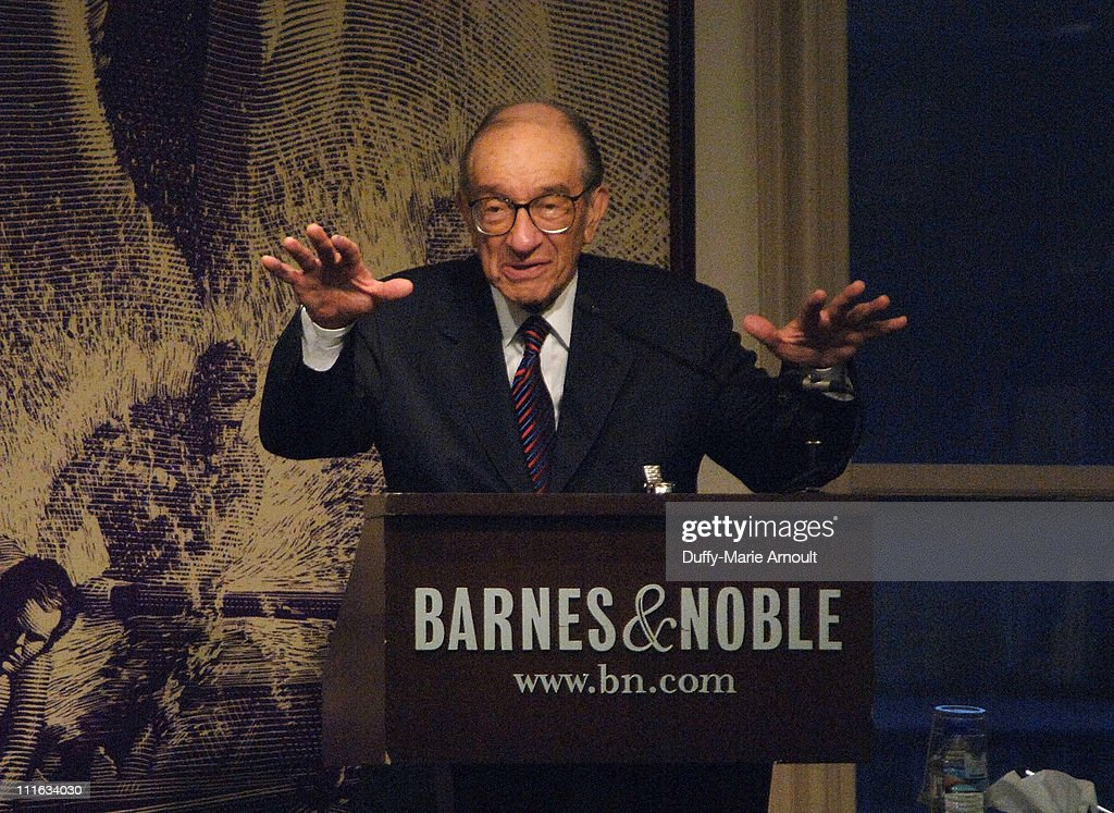 Former Chairman of the Board of Governors of the Federal Reserve Alan Greenspan speaks about his new book 'The Age of Turbulence Adventures in a New...