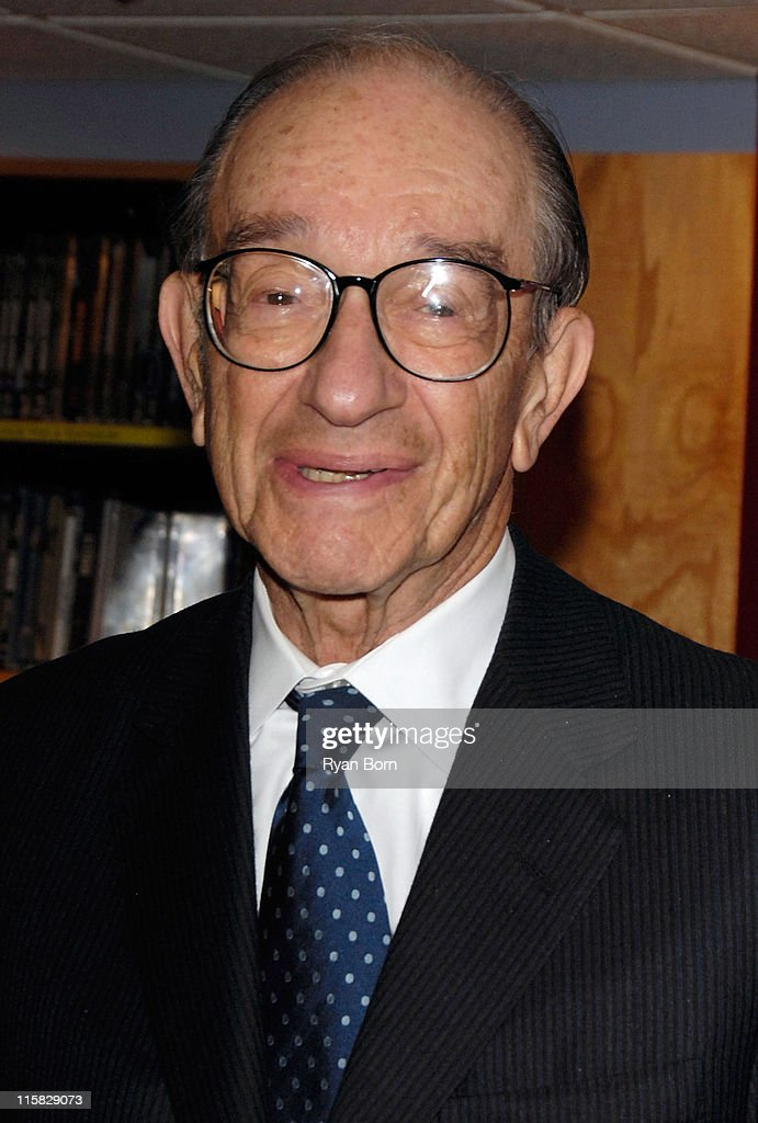 "Alan Greenspan Book Signing for ""Age of Turbulence"" at Borders,"