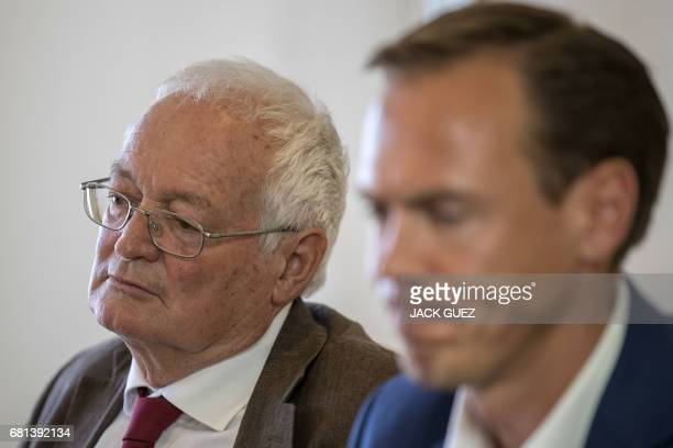 Former Chairmen of the chambers of the independent FIFA Ethics Committee HansJoachim Eckert attends a press conference after FIFA's decision to...