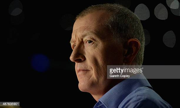 Former champion Steve Davis during The Dafabet World Snooker Championship at Crucible Theatre on May 1 2014 in Sheffield England