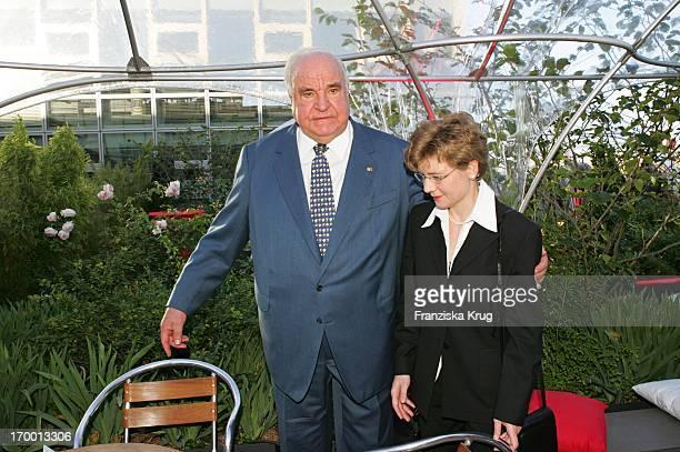 Former Chancellor Helmut Kohl and his new partner Maike Richter BILD Summer Fesitival In Berlin On 280605