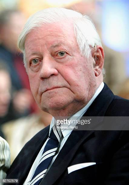 Former chancellor Helmut Schmidt attends the opening of the exhibition 'Helmut Schmidt ein Leben in Bildern des SpiegelArchivs' at the Deichtorhallen...