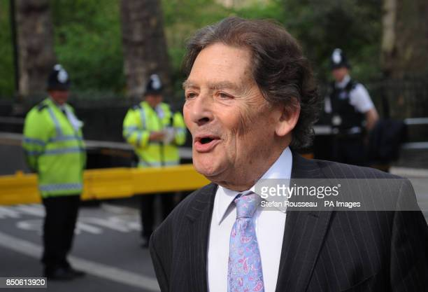 Former Chancellor of the Exchequer Nigel Lawson arrives at television studios in Westminster today where he was interviewed about his comments on...