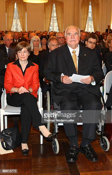 Former Chancelor of Germany Dr Helmut Kohl and his wife Maike KohlRichter attends the HannsMartin Schleyer award ceremony at the new castle on May 8...