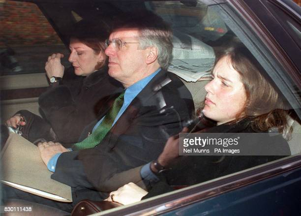 Former Channel 4 boss Michael Grade arrives with mourners at Willesden Liberal Cemetery today December 1998 following the funeral of his uncle TV...