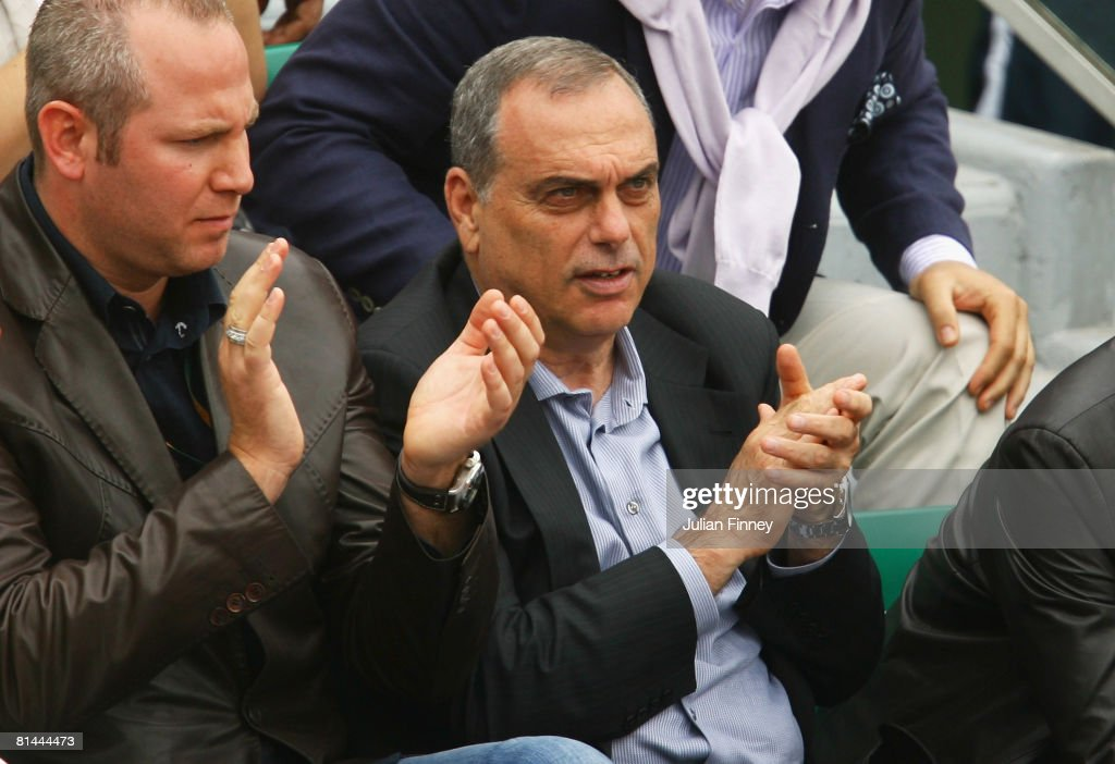 Former Chelsea football manager, Avram Grant watches the Women's Singles Semi Final match between Jelena Jankovic of Serbia and Ana Ivanovic of Serbia on day twelve of the French Open at Roland Garros on June 5, 2008 in Paris, France.