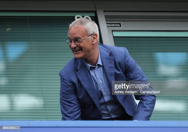 Former Chelsea manager Claudio Ranieri during the Premier League match between Chelsea and Sunderland at Stamford Bridge on May 21 2017 in London...