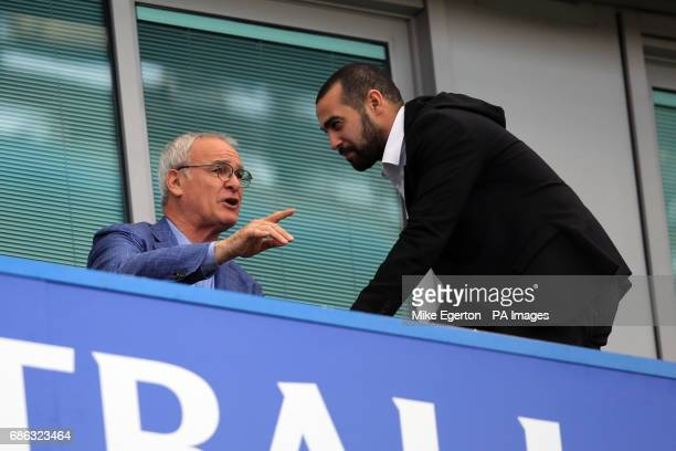 Former Chelsea manager Claudio Ranieri watches the action during the Premier League match at Stamford Bridge London
