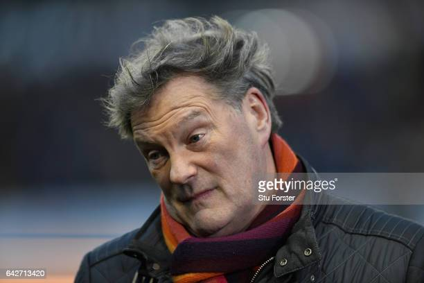 Former Chelsea manager Glenn Hoddle on media duties before The Emirates FA Cup Fifth Round match between Wolverhampton Wanderers and Chelsea at...