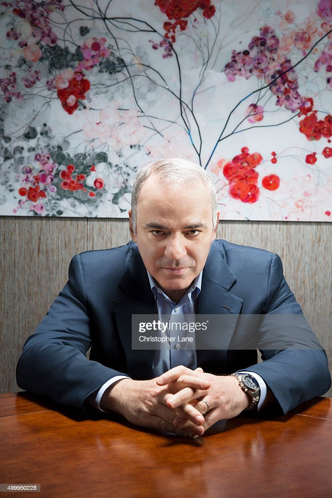 Former chess champion <a gi-track='captionPersonalityLinkClicked' href=/galleries/search?phrase=Garry+Kasparov&family=editorial&specificpeople=171112 ng-click='$event.stopPropagation()'>Garry Kasparov</a> is photographed for Society Magazine- France on April 8, 2015, in New York City.