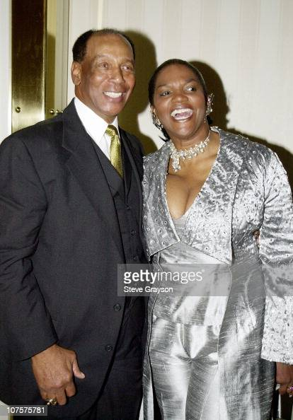 Former Chicago Cub great Ernie Banks Anna Maria Horsford poses at the Childrens Miracle Network and Childrens Hospital Celebration of Champions...