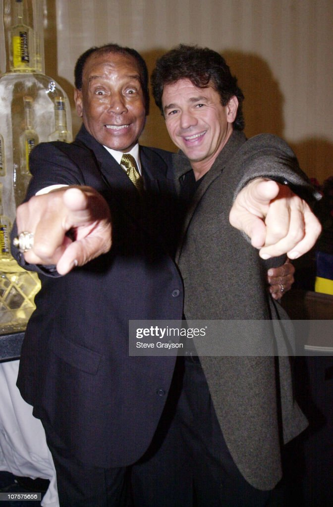 Former Chicago Cub great Ernie Banks poses with Adrian Zmed at the Childrens Miracle Network and Childrens Hospital Celebration of Champions...