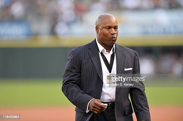 Former Chicago White Sox and Kansas City Royals player and Heisman Trophy winner Bo Jackson stands on the field before the 2013 Civil Rights Game...