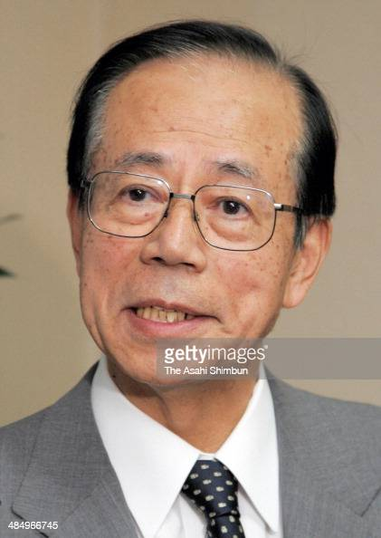 Former Chief Cabinet Secretary Yasuo Fukuda announces his run for the Liberal Democratic Party Presidential Election on September 13 2007 in Tokyo...