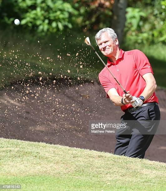 Former Chief Executive David Gill of Manchester United takes part in the annual MU Foundation golf day at Dunham Forest Golf and Country Club on July...